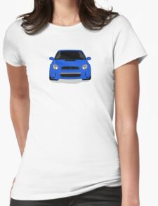Blue WRX Vector Womens Fitted T-Shirt