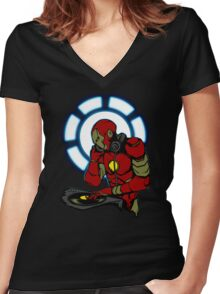IRON DJ Women's Fitted V-Neck T-Shirt
