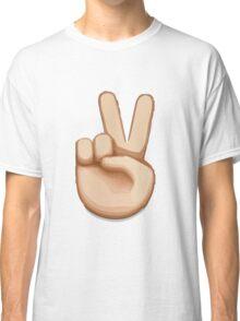 Victory Hand Emoji Classic T-Shirt