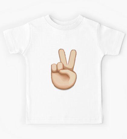 Victory Hand Emoji Kids Tee