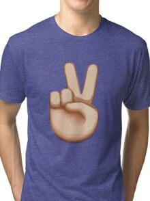 Victory Hand Emoji Tri-blend T-Shirt