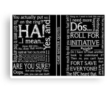 Game Master Quotes Canvas Print