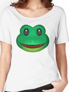 Frog Face Emoji Women's Relaxed Fit T-Shirt