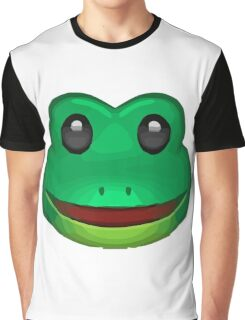 Frog Face Emoji Graphic T-Shirt
