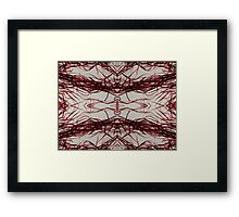 Red Streamers Repeating Framed Print