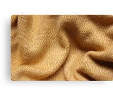 Yellow Knit Canvas Print
