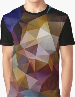 Abstract background of triangles, polygon wallpaper in retro bright colors. Graphic T-Shirt