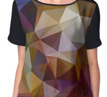 Abstract background of triangles, polygon wallpaper in retro bright colors. Chiffon Top