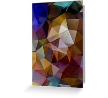 Abstract background of triangles, polygon wallpaper in retro bright colors. Greeting Card