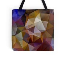 Abstract background of triangles, polygon wallpaper in retro bright colors. Tote Bag