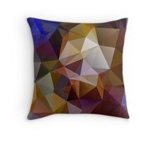 Abstract background of triangles, polygon wallpaper in retro bright colors. Throw Pillow