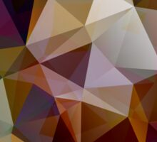 Abstract background of triangles, polygon wallpaper in retro bright colors. Sticker