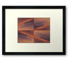 Sunset Sky Mosaic Framed Print