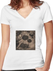 chairs and tables Women's Fitted V-Neck T-Shirt