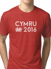 Cymru 2016 Tri-blend T-Shirt
