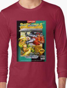 Street Fighter II Sega Cartridge Long Sleeve T-Shirt