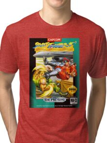 Street Fighter II Sega Cartridge Tri-blend T-Shirt