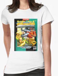 Street Fighter II Sega Cartridge Womens Fitted T-Shirt