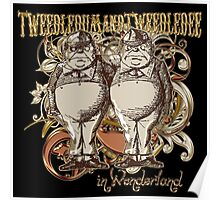 Tweedledum & Tweedledee Carnivale Style - Gold Version Poster
