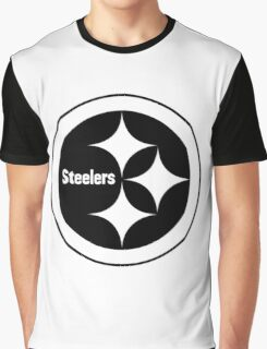 PITTSBURGH STEELERS BLACK AND WHITE Graphic T-Shirt