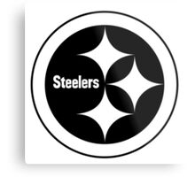 PITTSBURGH STEELERS BLACK AND WHITE Metal Print