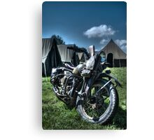 Vintage Military Motorcycle Canvas Print