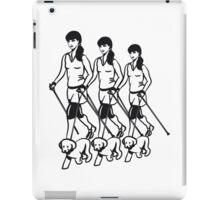 nordic walking women dog iPad Case/Skin