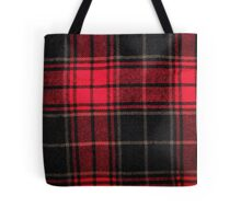 Red & Black Flannel Tote Bag