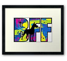 BFF Great Dane Framed Print