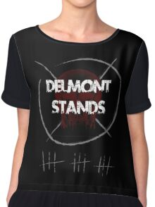Delmont Stands Chiffon Top