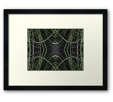 Grassy Curves Repeated Framed Print