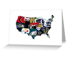 ALL AMERICAN FOOTBALL Greeting Card