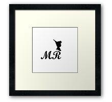 mr peter pan design Framed Print