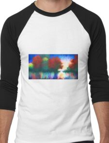 Rippled Sunset Men's Baseball ¾ T-Shirt