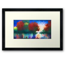 Rippled Sunset Framed Print