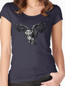 Skeletowl BW Women's Fitted Scoop T-Shirt