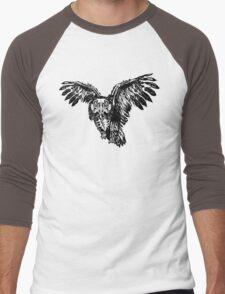 Skeletowl BW Men's Baseball ¾ T-Shirt