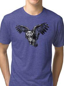 Skeletowl BW Tri-blend T-Shirt