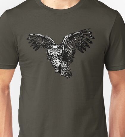 Skeletowl BW Unisex T-Shirt