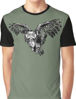 Skeletowl BW Graphic T-Shirt