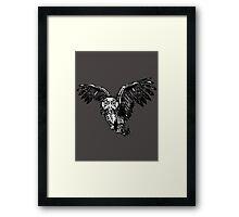 Skeletowl BW Framed Print