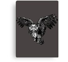 Skeletowl BW Canvas Print