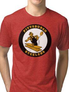 PITTSBURGH STEELERS CLASSIC LOGO Tri-blend T-Shirt