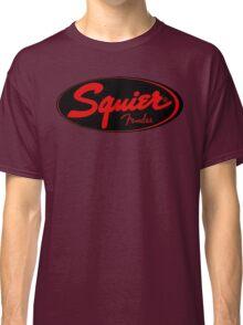 squier fender logo black red  Classic T-Shirt