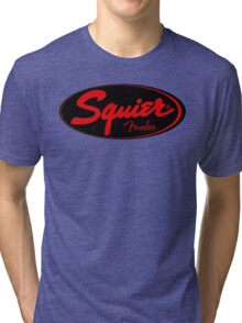 squier fender logo black red  Tri-blend T-Shirt