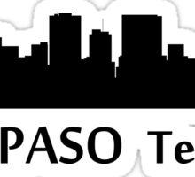 El Paso Cityscape Skyline Sticker