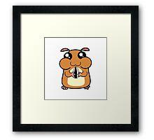 Cartoon Hamster Framed Print