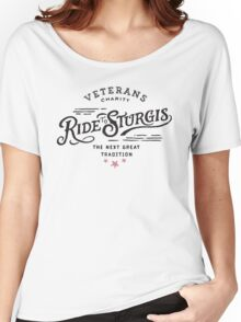 sturgis, custom, rider, racing, logo, rally, motorcycle, motor, 76th, 2016, race, dakota, veteran, charity, tradition ride sturgis Women's Relaxed Fit T-Shirt