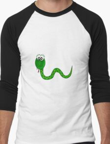 Cartoon Snake Men's Baseball ¾ T-Shirt