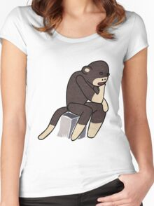Sock Monkey Thinking Women's Fitted Scoop T-Shirt